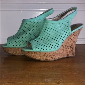 Turquoise Summer Wedges